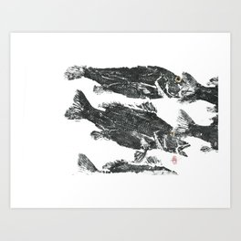 Snappers Art Print