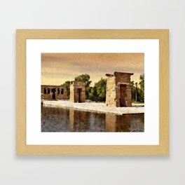 Temple of Debod  (In Madrid, gift from Egypt) Framed Art Print