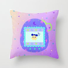 Tamagotchi Throw Pillow