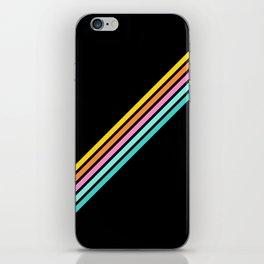 Minimal Abstract Retro Stripes 80s Style - Bakunawa iPhone Skin