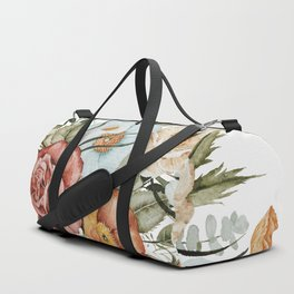 Roses and Poppies Duffle Bag
