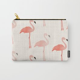 Double Flamingo Carry-All Pouch