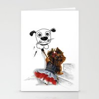 terrier Stationery Cards featuring terrier by albertovna87