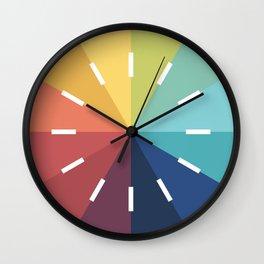 Modern Color Wheel Wall Clock