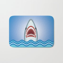 Cartoon Shark Bath Mat