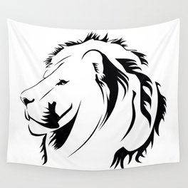 Lionhead Tribiales Wall Tapestry
