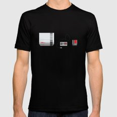 #38 Nintendo Entertainment System Black MEDIUM Mens Fitted Tee
