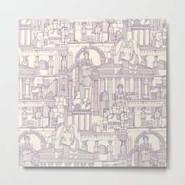 Ancient Greece purple pearl Metal Print