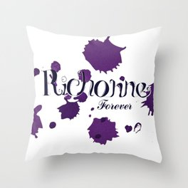 Richonne forever purple Throw Pillow