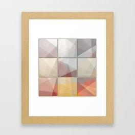 Abstract triangle art Framed Art Print