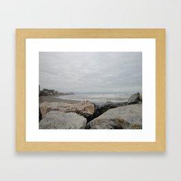 Stormy Torremolinos Framed Art Print