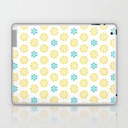 Spring Yellow Blue Flower Pattern Laptop & iPad Skin