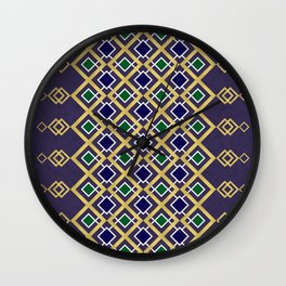 Gold and Jewels Wall Clock