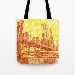 big yellow apple Tote Bag