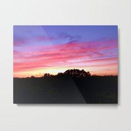 Wisconsin Sunset Metal Print