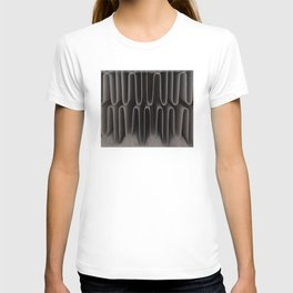 Industrial Waves | Metal Coils Abstract | Contemporary Art T-shirt