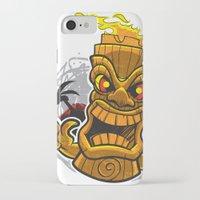tiki iPhone & iPod Cases featuring Tiki by Eye Opening Design