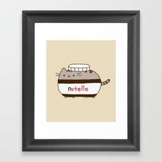 Nutella Cat Framed Art Print