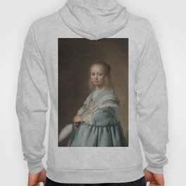 Portrait of a girl in blue - Johannes Cornelisz. Verspronck (1641) Hoody