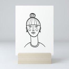 Simple Portrait Mini Art Print