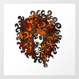 Medusa   Sea Legand Art Print