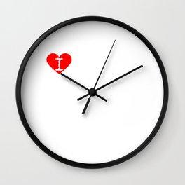 I Heart to be mocked | Love to be mocked Wall Clock