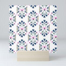 PATTERN FOLK PAPER FLOWER Mini Art Print
