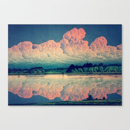 Admiring the Clouds in Kono Canvas Print