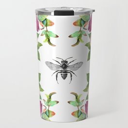 Honey Bee with Floral Watecolor Travel Mug