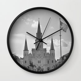 St. Louis Cathedral - Jackson Square, New Orleans Wall Clock