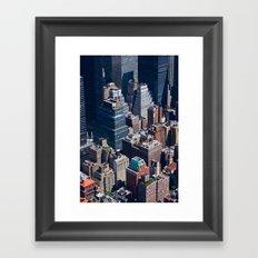 New York City - Manhattan #1 Framed Art Print