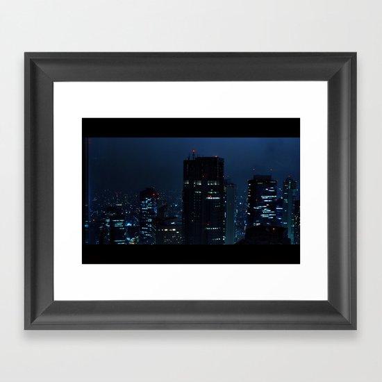 Lost in Translation - Tokyo Blues Framed Art Print