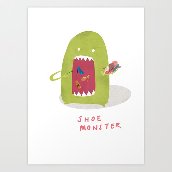 Shoe Monster Art Print