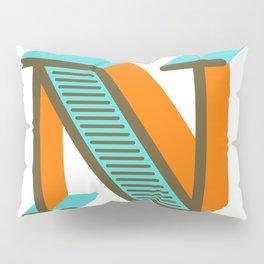 Letter N Pillow Sham