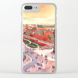 Evening in Warsaw Clear iPhone Case