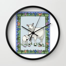 Sheep Artist, Sheep Art Wall Clock
