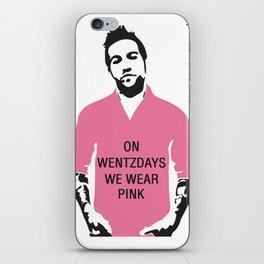 On Wentzdays we Wear Pink iPhone Skin