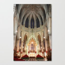 Christmas Decorations in St. Patrick's Cathedral Canvas Print