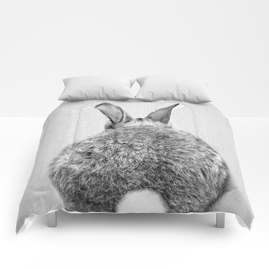 Rabbit Tail - Black & White by galdesign