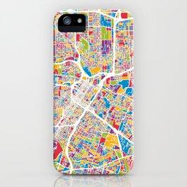 Houston Texas City Street Map iPhone Case