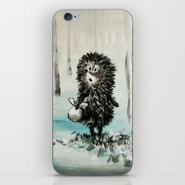 Hedgehog in the fog iPhone Skin