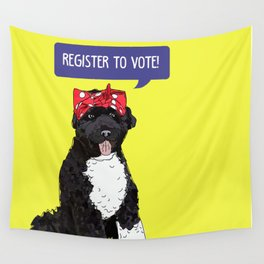 Political Pup - Regiser to Vote Wall Tapestry