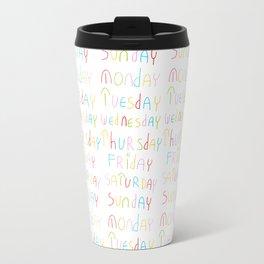days in a week 2- day,week, daytime,dia,semana,child,school Travel Mug