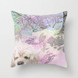 Snow Dog (for Philippa) Throw Pillow