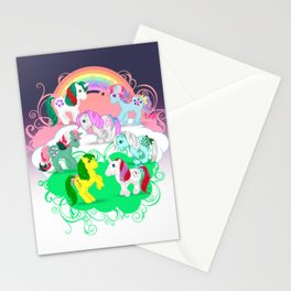 g1 my little pony Gusty, Sweet Stuff, Magic Star, Fizzy, Snuzzle, Minty, Moondancer Stationery Cards