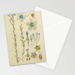 Flower linum usitatissunum17 Stationery Cards