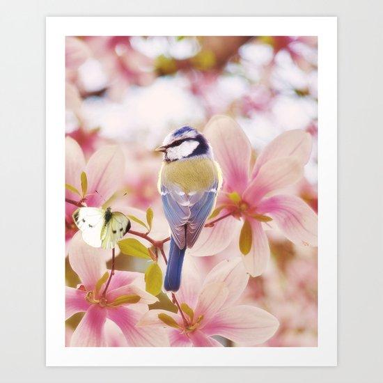 Blossom Buddies Art Print