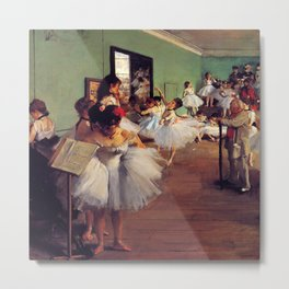 Degas The Dance Class Metal Print