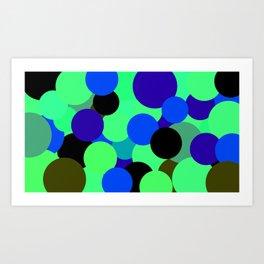 Bolhas flutuantes Art Print