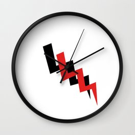 Lightning black and red Wall Clock